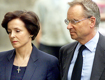 Jeffrey Archer, right, and his wife Mary