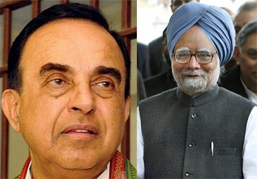 Janata Party president Subramanian Swamy and Prime Minister Manmohan Singh