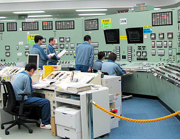 The central control room for the No. 3 reactor at the Tokyo Electric Power Co. Fukushima Daiichi Nuclear Power Plant in Tomioka, Fukushima Prefecture is pictured in a handout photo