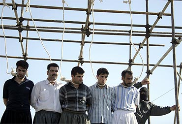 Five men, convicted of various charges including rape, are about to be hanged in Mashhad, Iran