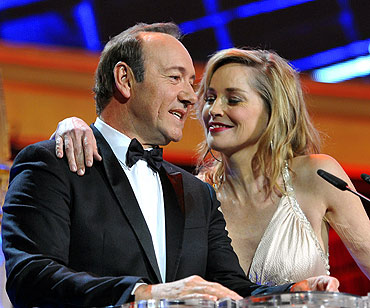 Sharon Stone and Kevin Spacey host the star-studded show