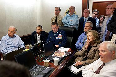 The CIA operative watched the Osama op with Obama, but was out of the frame