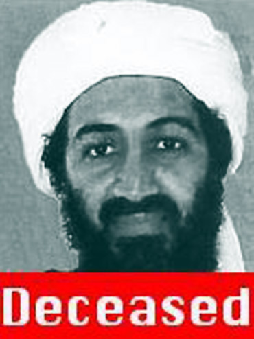 A screen grab from FBI's Most Wanted website taken May 2, 2011 shows the status of Osama bin Laden as deceased