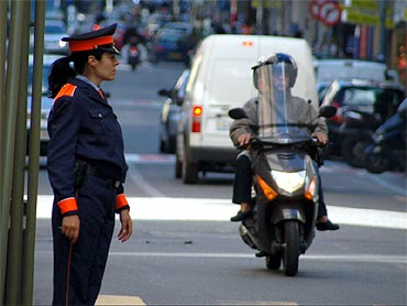 An Andorran police officer