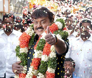 DMDK chief Vijayakanth, the new Opposition leader