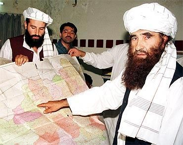 Militants belonging to the Haqqani network