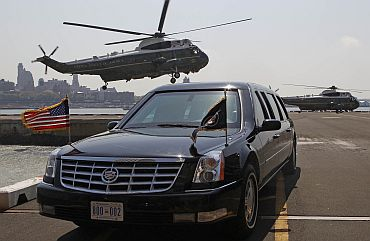 Vehicle has provision for Obama's blood transfusion