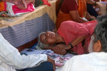 Medha Patkar during her hunger strike in Mumbai