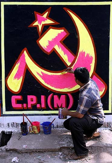 The party symbol of the CPI-M