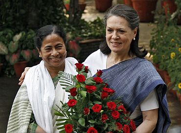 Mamata with Congress chief Sonia Gandhi