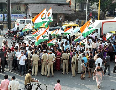 NCP workers take to the streets to protest