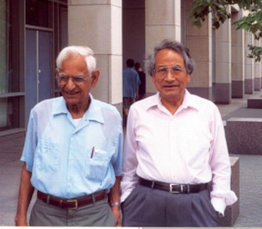 Dr Har Gobind Khorana, left, with Dr Uttam RajBhandary at MIT