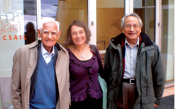 Dr Har Gobind Khorana (left) with his eldest daughter Julia Elizabeth and longtime colleague and friend Dr Uttam RajBhandary