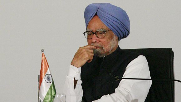 Prime Minister Manmohan Singh's government does not have a powerful political voice to counter the Opposition's arguments