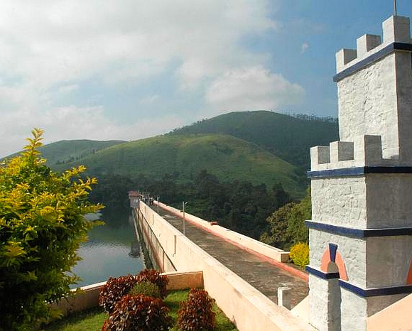 A view of the Mullaperiyar dam