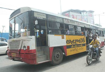 Some RTC buses returned to Hyderabad roads after the strike was called off on Tuesday