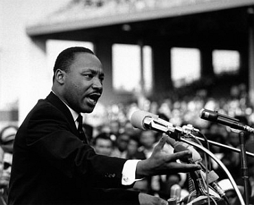 Black civil rights leader Martin Luther King