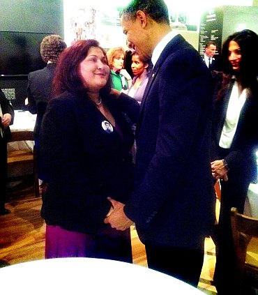 US President Barack Obama with Talat Hamdani