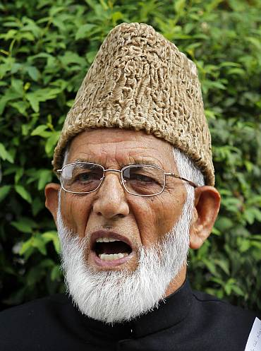 Syed Ali Shah Geelani, chairman of the hardliner faction of Kashmir's Hurriyat (Freedom) Conference