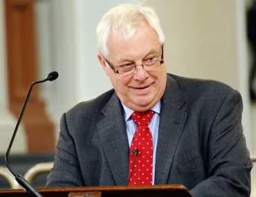 Chris Patten, chancellor of Oxford University during the Oxford alumni speech