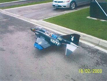 A scale model of a US Navy F-4 Phantom fighter Sabre fighter plane is seen in a handout photo released by the US Justice Department after the photo was submitted to US District Court in Massachusetts as part of a criminal complaint and affidavit filed by the Federal Bureau of Investigation in Boston
