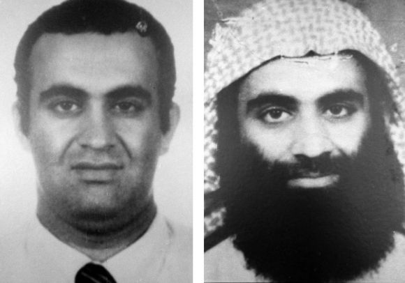 Handout image released by US attorney's office in New York office show KSM (right) with his cousin Ramzi Yousef