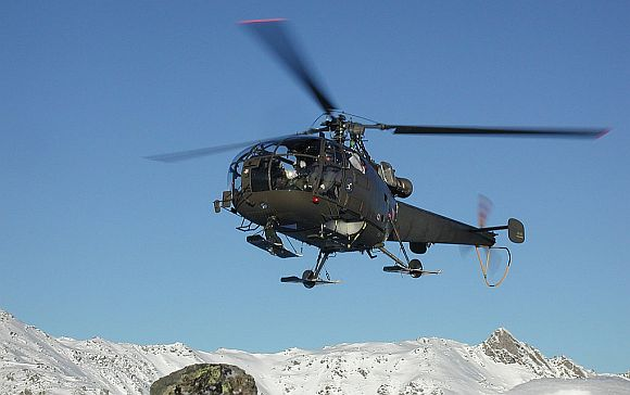 An Indian Army helicopter