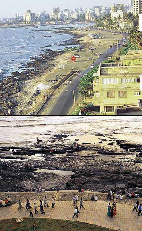 Bandra Bandstand: Then and now