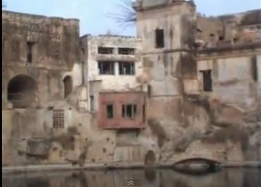 A video garb of the Katas Raj Temple pond