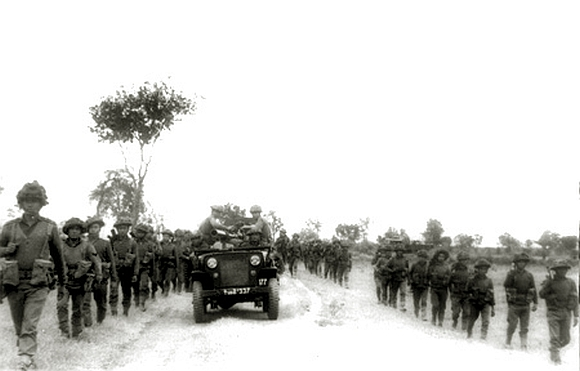 Indian troops on the move