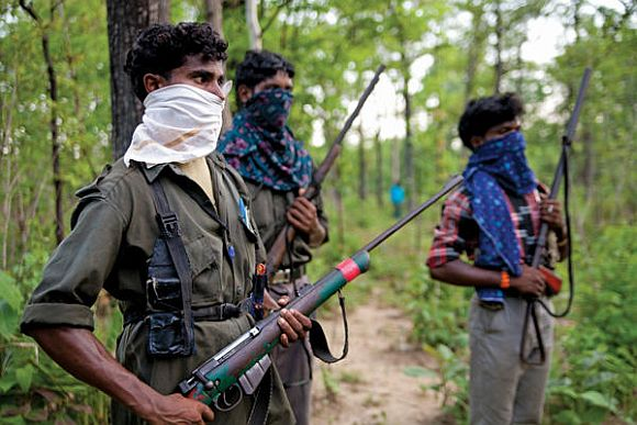 Maoist cadre at an undisclosed location