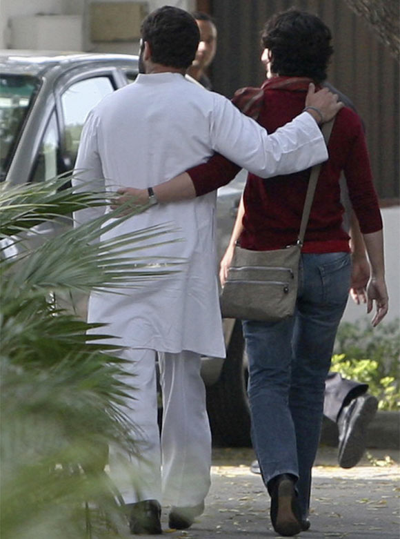 Rahul Gandhi walks with his sister Priyanka Gandhi Vadera after speaking to the media in New Delhi. Rahul, tried to project himself as a man of the people as he campaigned tirelessly for the Congress party in Uttar Pradesh. However, the strategy did not work.