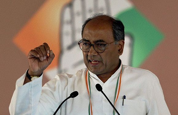 Mr Advani, where did funds for Ram temple go: Digvijay