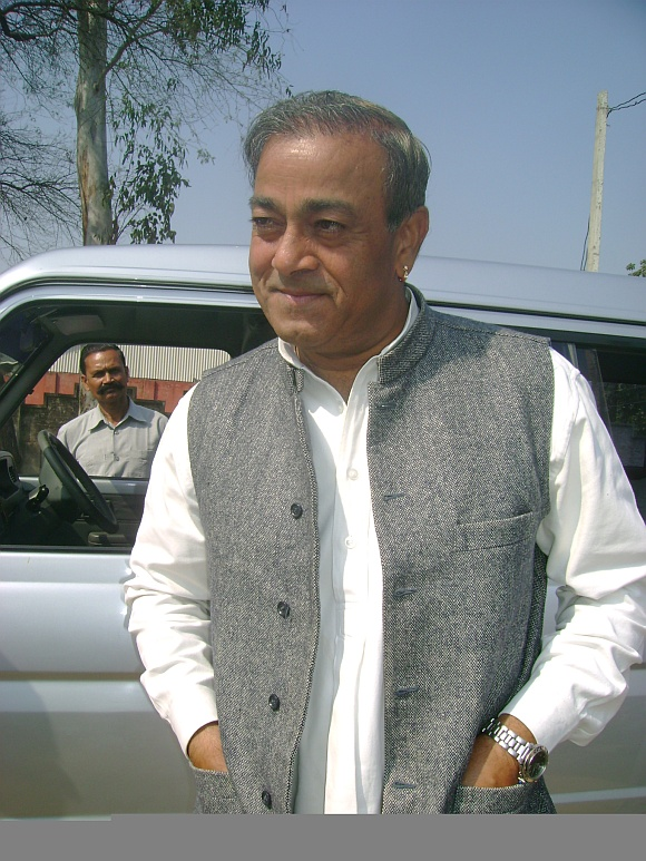 Sanjay Singh, whose wife Ameeta Singh is the Congress candidate
