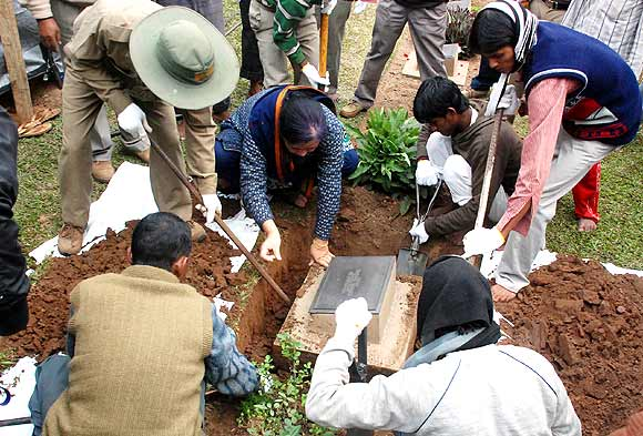 Graves of WWII soldiers being exhumed at Guwahati war cemetery