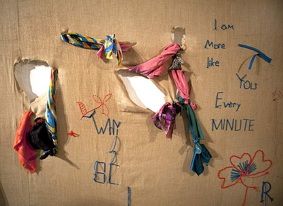 Ono's Heal Together installation at the Vadehra Art Gallery, New Delhi