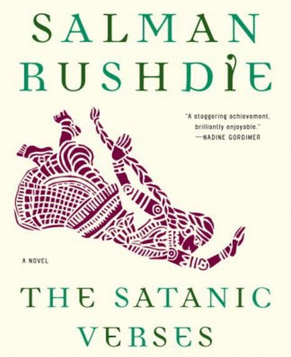 The cover of Rushdie's controversial novel 'Satanic Verses'