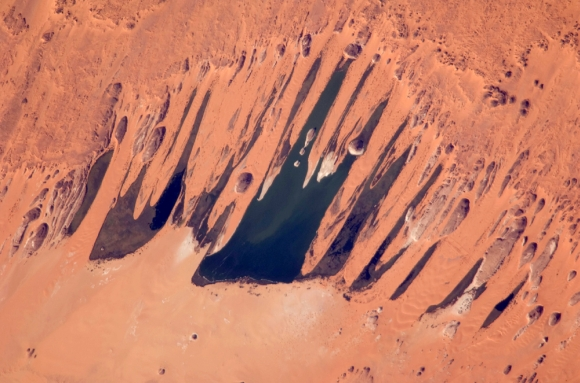 A view of Lakes of Ounianga in Chad from space