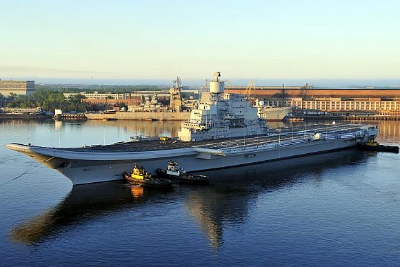 INS Vikramaditya, formerly the Admiral Gorshkov aircraft carrier