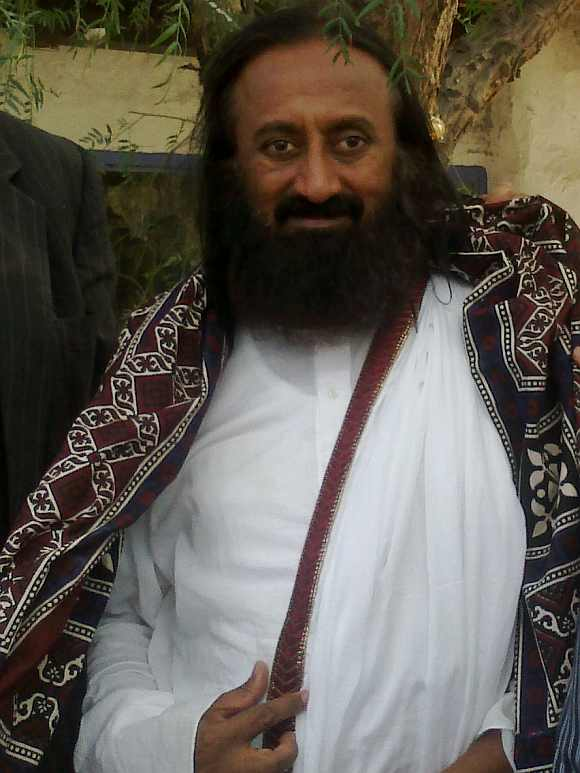 Spiritual guru Sri Sri Ravi Shankar held an interaction with the media in Islamabad