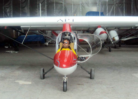 Srin's first flying lesson