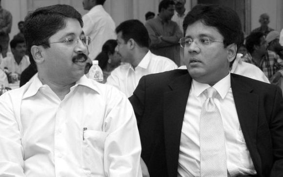 Former Union Minister Dayanidhi Maran and his brother Sun TV MD Kalanithi Maran