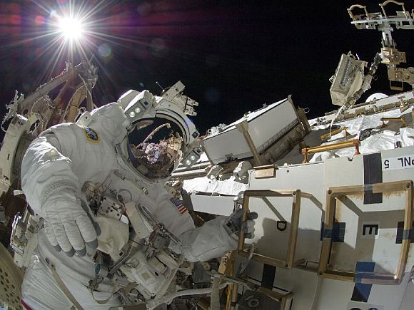 Sunita Williams on record 7th space walk