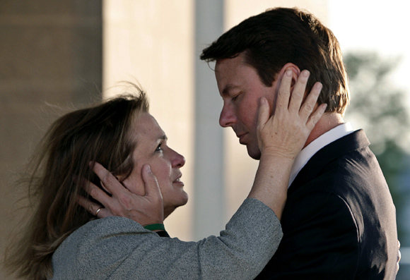 John Edwards with wife Elizabeth in happier times