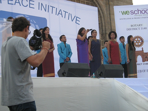 The Shillong Chamber Choir performs at the event