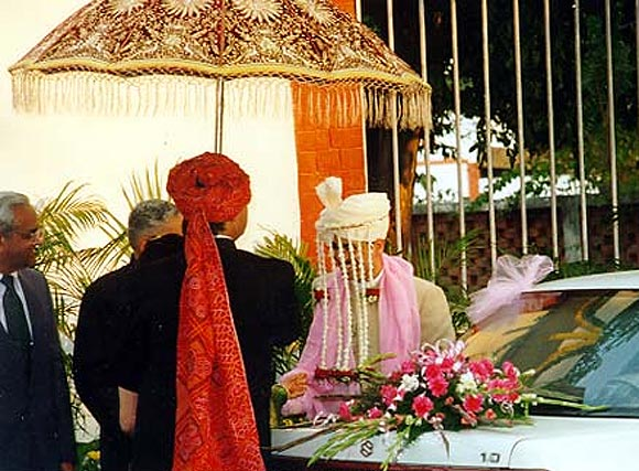 Robert Vadra arrives for the wedding