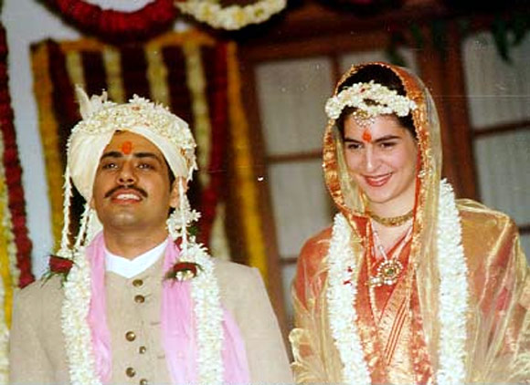 Priyanka Gandhi with Robert Vadra