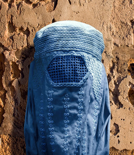 Woman in a burqa