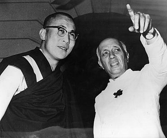 The Dalai Lama with Nehru, Delhi, 1961