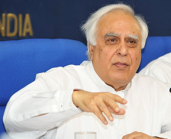 Union Human Resource and Telecom Minister Kapil Sibal